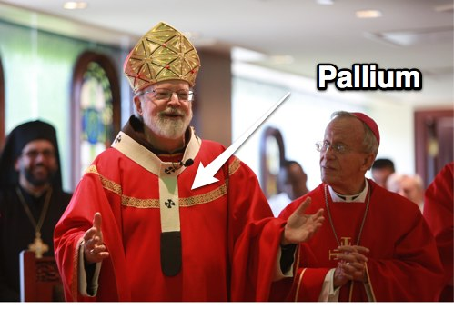 The archbishop's pallium