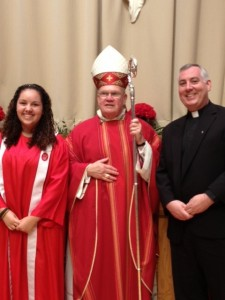 Fr. Mark O'Connell was confirmation sponsor for his niece Kara O'Connell