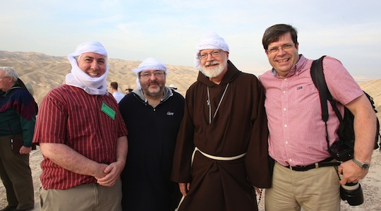 From left: Fr. Mark O'Connell, Fr. Paul Soper, Cardinal Seán, George Martell (Photo: George Martell/TheGoodCatholicLife.com)